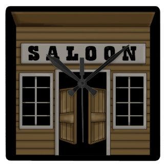 Saloon- Western Square Wall Clock
