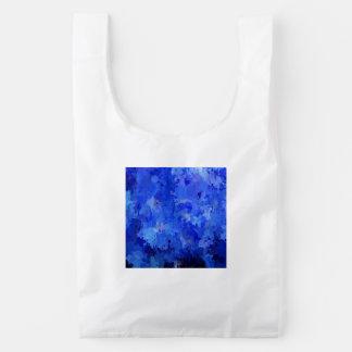 salpica de color, azul bolsa reutilizable