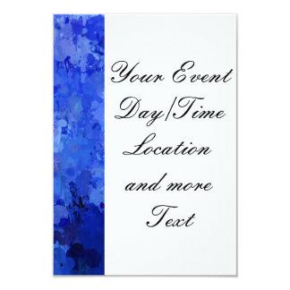 """salpica de color, azul invitación 3.5"""" x 5"""""""