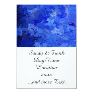 """salpica de color, azul invitación 5"""" x 7"""""""