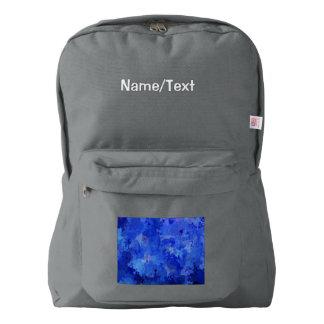 salpica de color, azul mochila