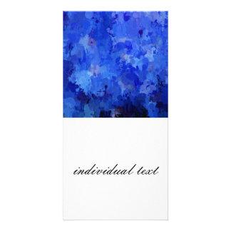 salpica de color, azul tarjetas personales