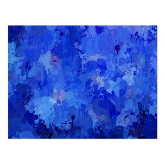 salpica de color, azul tarjetas postales