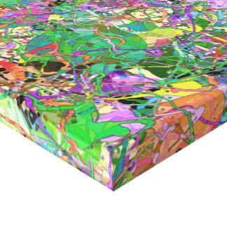 Salpica de la pintura impresiones en lona estiradas