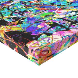 Salpica de la pintura impresión en lienzo estirada