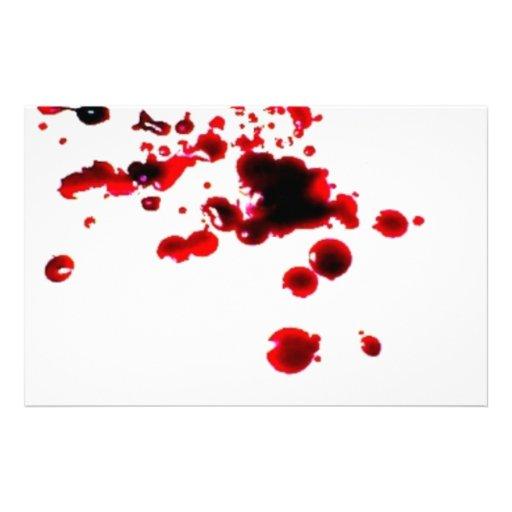Salpicadura 2 Halloween espeluznante de la sangre  Papeleria De Diseño