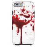 salpicadura 3 de la sangre funda de iPhone 6 tough