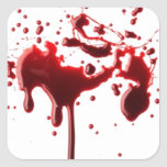 salpicadura 3 de la sangre pegatina cuadrada