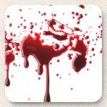salpicadura 3 de la sangre posavasos de bebidas