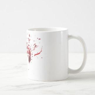 salpicadura 3 de la sangre taza básica blanca