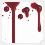 salpicadura 4 de la sangre calcomania cuadradas