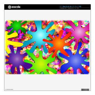 """Salpicadura abstracta 11"""" aire de MacBook (11,8 x  27,9cm MacBook Air Calcomanía"""