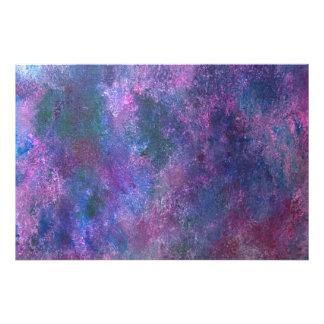 Salpicadura abstracta azulverde púrpura rosada fotografía