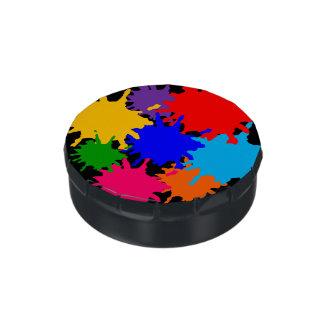 Salpicadura adaptable de la pintura jarrones de dulces