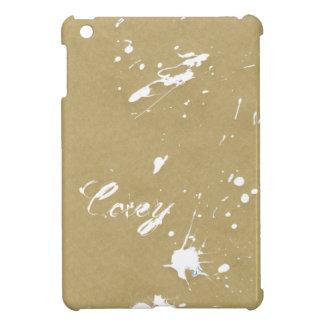 Salpicadura blanca seca de la pintura en el papel