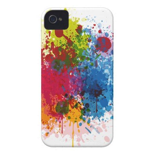 Salpicadura colorida de la pintura Case-Mate iPhone 4 fundas