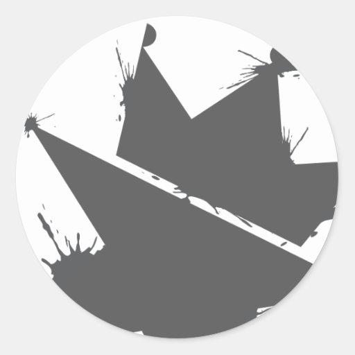 Salpicadura de A.Okay - gris Pegatina Redonda