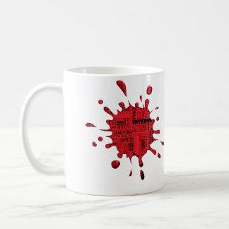Salpicadura de informática taza de café