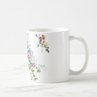 Salpicadura de la diversión del color combinada taza de café