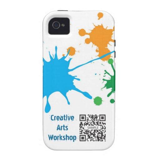 salpicadura de la pintura de la plantilla del caso funda para iPhone 4/4S