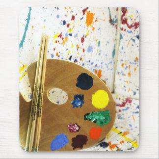 Salpicadura de la pintura de los artistas y alfombrillas de ratón