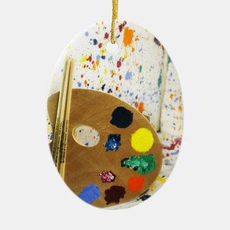 Salpicadura de la pintura de los artistas y plataf