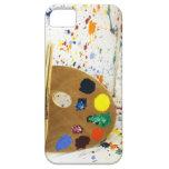 Salpicadura de la pintura de los artistas y plataf iPhone 5 Case-Mate cárcasas
