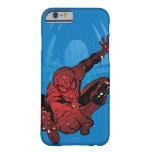 Salpicadura de la pintura de Spider-Man y gráfico Funda De iPhone 6 Barely There