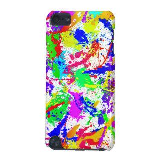 Salpicadura de la pintura del arco iris funda para iPod touch 5