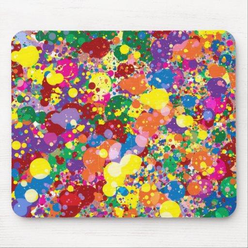 Salpicadura de la pintura del arco iris alfombrilla de ratón