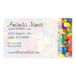Salpicadura de la pintura del arco iris plantilla de tarjeta de negocio