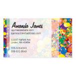 Salpicadura de la pintura del arco iris plantilla de tarjeta personal