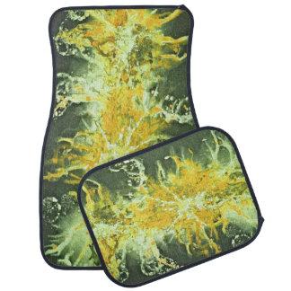 Salpicadura de la pintura del Grunge attern - verd Alfombrilla De Auto