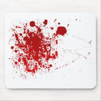 Salpicadura de la sangre alfombrillas de ratón