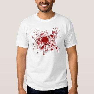 Salpicadura de la sangre de la camiseta playera