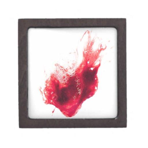 Salpicadura de la sangre de la forma del corazón cajas de regalo de calidad