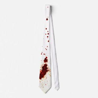 Salpicadura de la sangre en la pared 2 corbatas