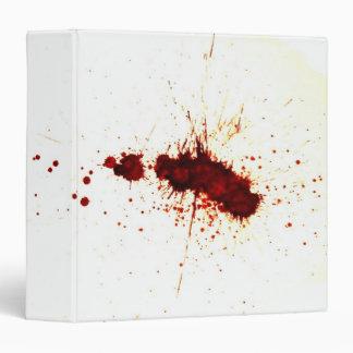 "Salpicadura de la sangre en la pared carpeta 1 1/2"""