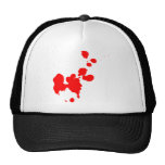 Salpicadura de la sangre gorras