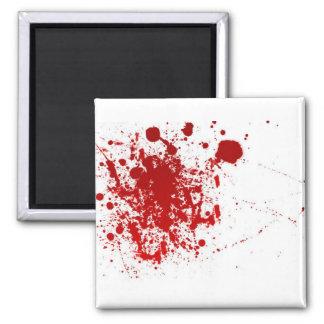 Salpicadura de la sangre imán cuadrado