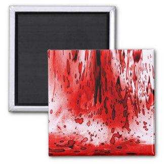 Salpicadura de la sangre imán de frigorifico