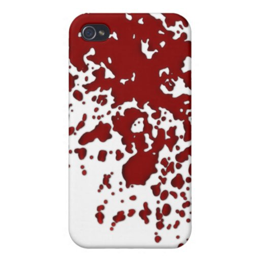 Salpicadura de la sangre iPhone 4/4S fundas