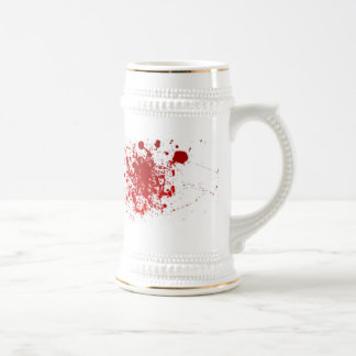 Salpicadura de la sangre jarra de cerveza