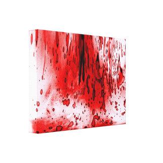 Salpicadura de la sangre lona estirada galerias