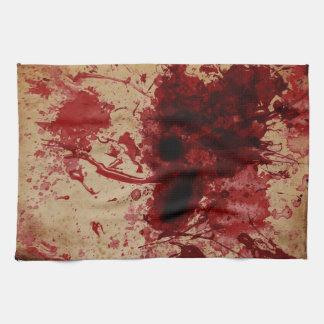 Salpicadura de la sangre toallas de cocina