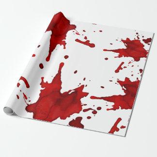 Salpicadura de la sangre papel de regalo