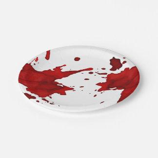 Salpicadura de la sangre plato de papel de 7 pulgadas