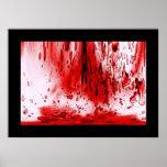 Salpicadura de la sangre poster