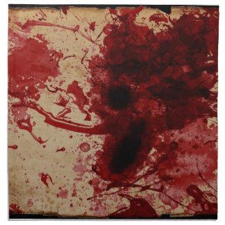 Salpicadura de la sangre servilleta