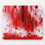 Salpicadura de la sangre tapetes de ratón